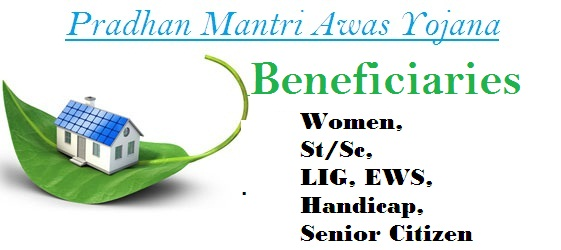 Beneficiaries of PMAY Women st sc LIG EWS handicap senior citizen