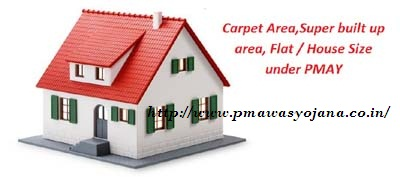 Carpet Area super built up area Flat House Size under PMAY