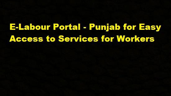 e-Labour Portal Punjab