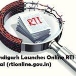 {https://rtionline.gov.in/} UT Chandigarh Launches Online RTI Portal