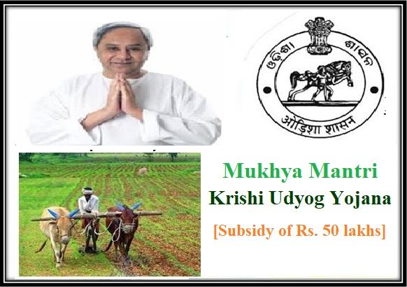 Mukhya Mantri Krishi Udyog Yojana in Odisha