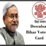 Bihar Voter ID card Download